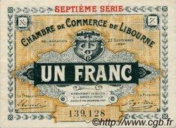 1 Franc FRANCE régionalisme et divers LIBOURNE 1920 JP.072.33 TTB à SUP