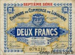 2 Francs FRANCE régionalisme et divers LIBOURNE 1920 JP.072.34 TTB à SUP