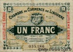 1 Franc FRANCE régionalisme et divers Libourne 1921 JP.072.36 TB