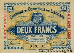 2 Francs FRANCE régionalisme et divers LIBOURNE 1921 JP.072.37 TTB à SUP