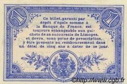 1 Franc FRANCE régionalisme et divers Limoges 1914 JP.073.03 SPL à NEUF