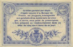 2 Francs FRANCE régionalisme et divers Limoges 1914 JP.073.05 SPL à NEUF