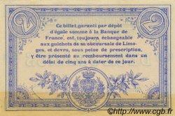 2 Francs FRANCE régionalisme et divers LIMOGES 1914 JP.073.05 TTB à SUP