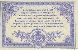 50 Centimes FRANCE régionalisme et divers LIMOGES 1914 JP.073.09 SPL à NEUF