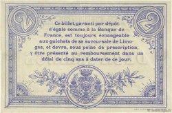 2 Francs FRANCE régionalisme et divers Limoges 1914 JP.073.12 TTB à SUP
