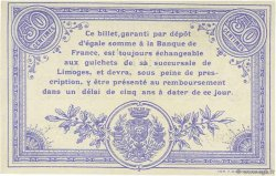 50 Centimes FRANCE régionalisme et divers LIMOGES 1914 JP.073.14 SPL à NEUF