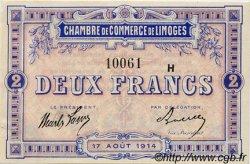 2 Francs FRANCE régionalisme et divers Limoges 1914 JP.073.16 TB
