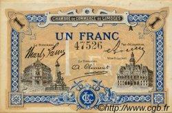 1 Franc FRANCE régionalisme et divers LIMOGES 1918 JP.073.22 TTB à SUP