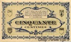 50 Centimes FRANCE régionalisme et divers LONS-LE-SAUNIER 1918 JP.074.01 TTB à SUP