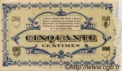 50 Centimes FRANCE régionalisme et divers LONS-LE-SAUNIER 1920 JP.074.01 TB