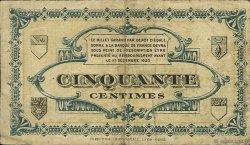 50 Centimes FRANCE régionalisme et divers LONS-LE-SAUNIER 1920 JP.074.09 TB