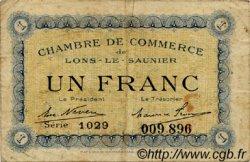 1 Franc FRANCE régionalisme et divers Lons-Le-Saunier 1920 JP.074.10 TB