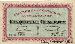 50 Centimes FRANCE régionalisme et divers LONS-LE-SAUNIER 1918 JP.074.11 TTB à SUP