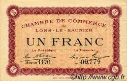 1 Franc FRANCE régionalisme et divers LONS-LE-SAUNIER 1918 JP.074.13 SPL à NEUF
