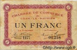 1 Franc FRANCE régionalisme et divers Lons-Le-Saunier 1918 JP.074.13 TB