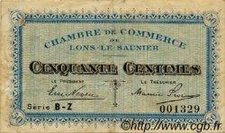 50 Centimes FRANCE régionalisme et divers LONS-LE-SAUNIER 1918 JP.074.16 TTB à SUP