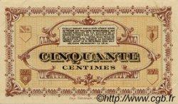 50 Centimes FRANCE régionalisme et divers Lons-Le-Saunier 1918 JP.074.17 TTB à SUP
