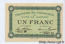 1 Franc FRANCE régionalisme et divers LONS-LE-SAUNIER 1918 JP.074.18 TTB à SUP