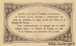 50 Centimes FRANCE régionalisme et divers LORIENT 1915 JP.075.01 TTB à SUP