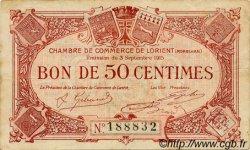 50 Centimes FRANCE régionalisme et divers Lorient 1915 JP.075.01 TB