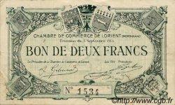 2 Francs FRANCE régionalisme et divers Lorient 1915 JP.075.03 TTB à SUP