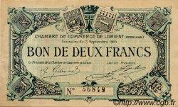 2 Francs FRANCE régionalisme et divers Lorient 1915 JP.075.03 TB