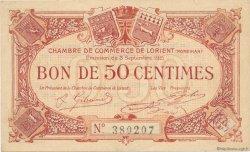 50 Centimes FRANCE régionalisme et divers LORIENT 1915 JP.075.04 SPL à NEUF