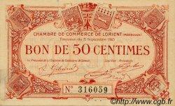50 Centimes FRANCE régionalisme et divers LORIENT 1915 JP.075.04 TTB à SUP