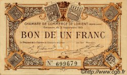 1 Franc FRANCE régionalisme et divers Lorient 1915 JP.075.15 TTB à SUP