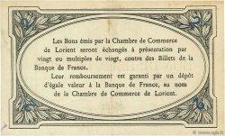 2 Francs FRANCE régionalisme et divers Lorient 1915 JP.075.16 TTB à SUP