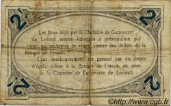 2 Francs FRANCE régionalisme et divers LORIENT 1915 JP.075.16 TB
