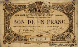 1 Franc FRANCE régionalisme et divers Lorient 1915 JP.075.18 TB