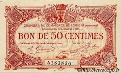 50 Centimes FRANCE régionalisme et divers LORIENT 1915 JP.075.20 TTB à SUP