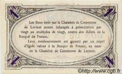 1 Franc FRANCE régionalisme et divers Lorient 1915 JP.075.21 SPL à NEUF