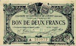 2 Francs FRANCE régionalisme et divers Lorient 1915 JP.075.22 SPL à NEUF