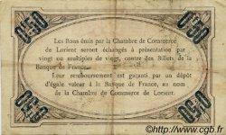 50 Centimes FRANCE régionalisme et divers Lorient 1915 JP.075.23 TTB à SUP