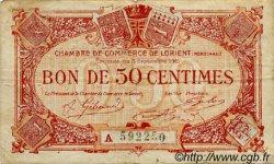 50 Centimes FRANCE régionalisme et divers Lorient 1915 JP.075.23 TB