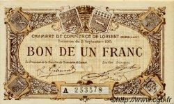 1 Franc FRANCE régionalisme et divers Lorient 1915 JP.075.24 TTB à SUP