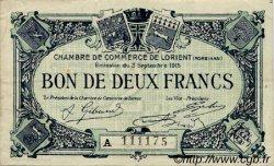 2 Francs FRANCE régionalisme et divers Lorient 1915 JP.075.25 TTB à SUP