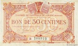 50 Centimes FRANCE régionalisme et divers LORIENT 1915 JP.075.26 SPL à NEUF