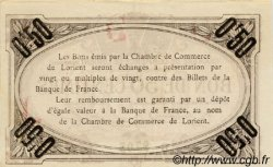50 Centimes FRANCE régionalisme et divers Lorient 1915 JP.075.26 TTB à SUP