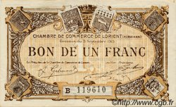 1 Franc FRANCE régionalisme et divers Lorient 1915 JP.075.27 TTB à SUP