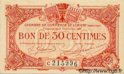 50 Centimes FRANCE régionalisme et divers LORIENT 1919 JP.075.29 SPL à NEUF