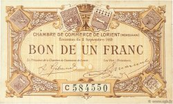 1 Franc FRANCE régionalisme et divers LORIENT 1919 JP.075.30 TTB à SUP