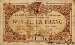 1 Franc FRANCE régionalisme et divers LORIENT 1919 JP.075.30 TB