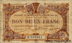1 Franc FRANCE régionalisme et divers LORIENT 1920 JP.075.33 TB