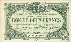 2 Francs FRANCE régionalisme et divers LORIENT 1920 JP.075.34 SPL à NEUF