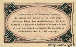 50 Centimes FRANCE régionalisme et divers LORIENT 1920 JP.075.35 SPL à NEUF