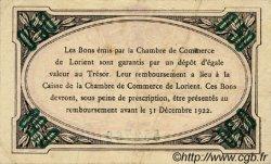 50 Centimes FRANCE régionalisme et divers Lorient 1920 JP.075.35 TTB à SUP