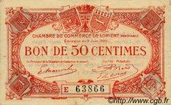 50 Centimes FRANCE régionalisme et divers Lorient 1920 JP.075.35 TB